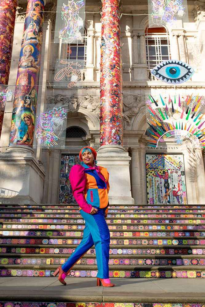 Steps of Tate Britain diwali exhibition